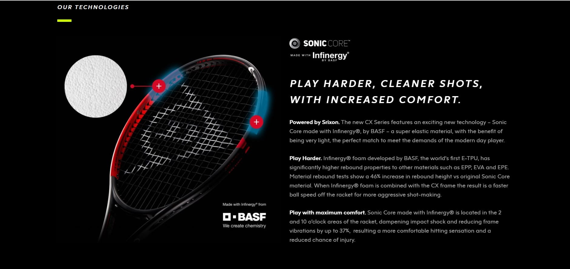 Image result for dunlop sonic core with infinergy