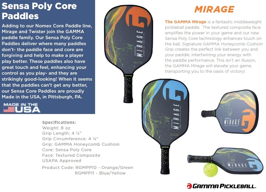 GAMMA PB PADDLES MIRAGE
