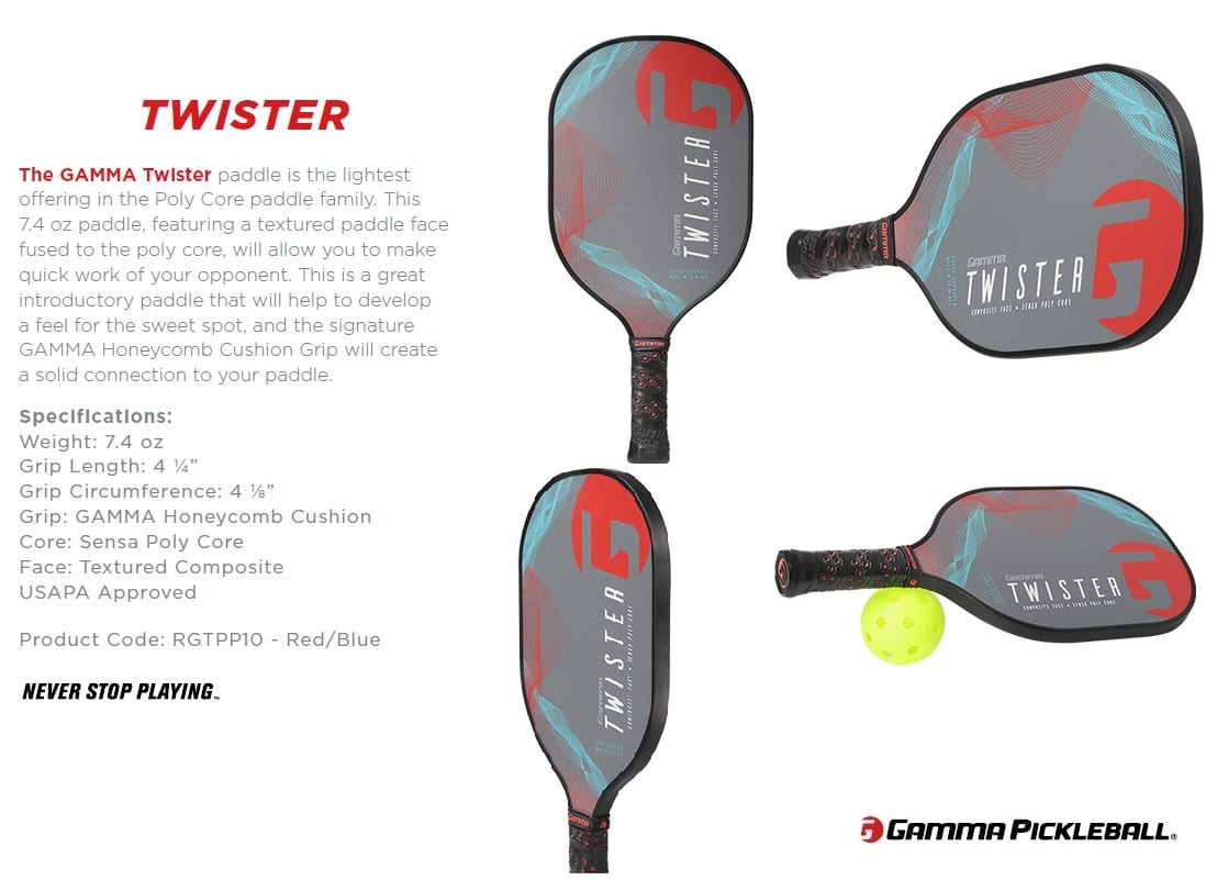 GAMMA PB PADDLES TWISTER